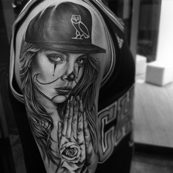 Gangsta Girl Be Tattoos Black Black And White Gangsta Image