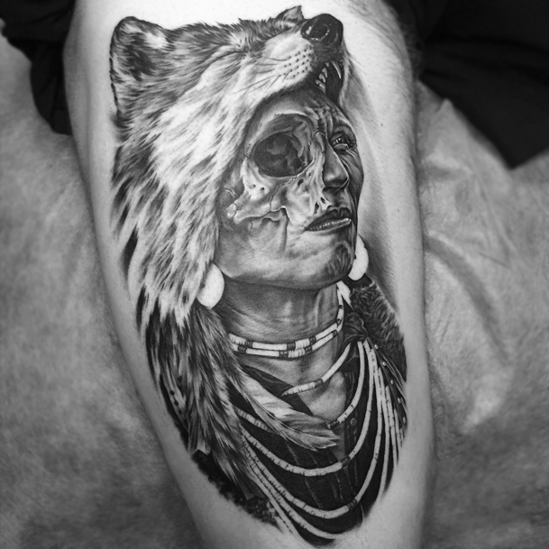 Tattoos Wolf Tattoos Headdress Tattoo: Iva Chavez